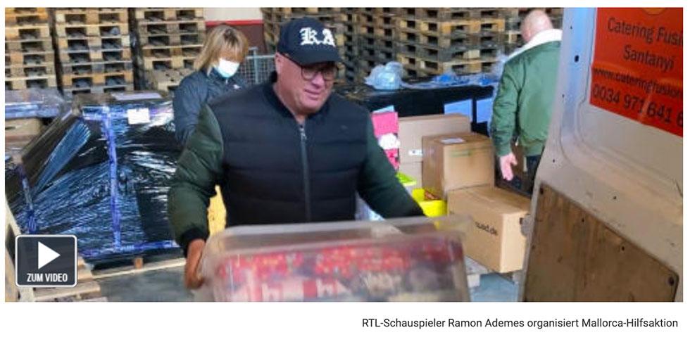 RTL-Schauspieler Ramon Ademes organisiert Mallorca-Hilfsaktion