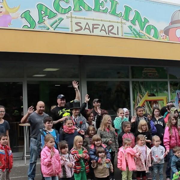 Mit den Kindern im Jackelino Safari