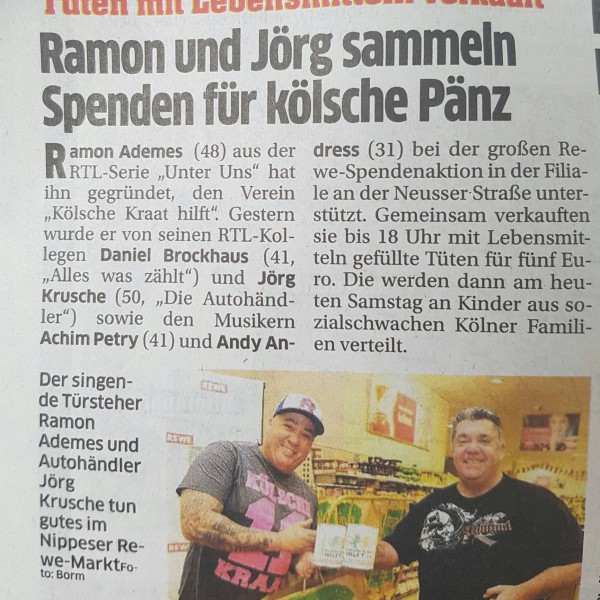 REWE Köln Spendeaktion